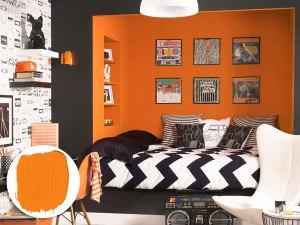 orange alcove room