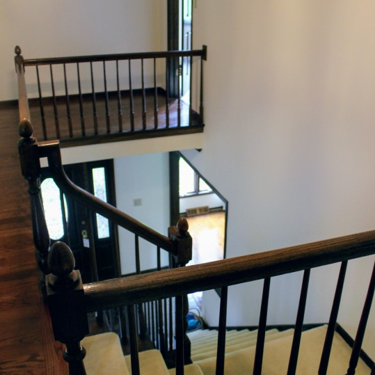 Lakewood upper staircase before